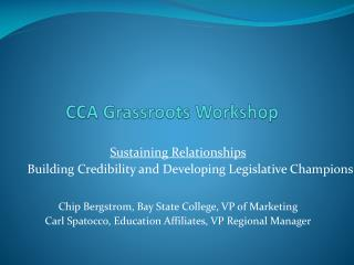 CCA Grassroots Workshop