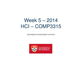 Week 5 – 2014 HCI – COMP3315