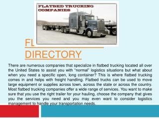 Flatbed Truck Directory