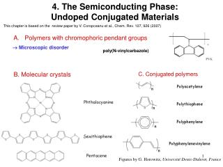 4. The Semiconducting Phase: Undoped Conjugated Materials