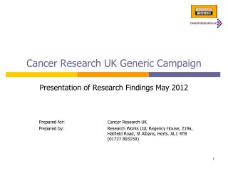 Cancer Research UK Generic Campaign