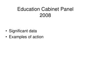 Education Cabinet Panel 2008