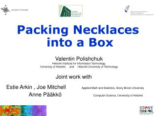 Packing Necklaces  into a Box