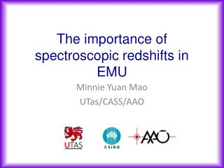 The importance of spectroscopic redshifts in EMU