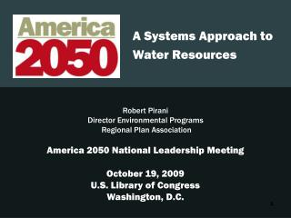 A Systems Approach to Water Resources