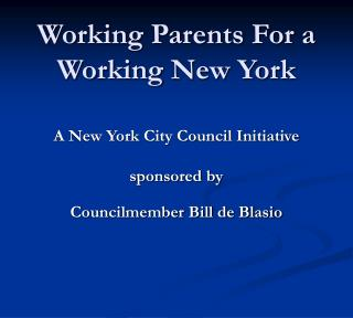 Working Parents For a Working New York
