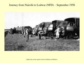 Journey from Nairobi to Lodwar (NFD) – September 1958