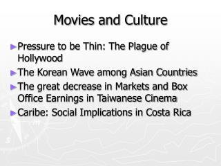 Movies and Culture