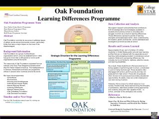 Oak Foundation  Learning Differences Programme