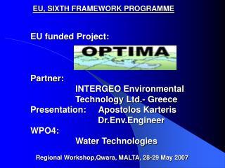 EU, SIXTH FRAMEWORK PROGRAMME