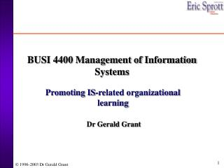 BUSI 4400 Management of Information Systems