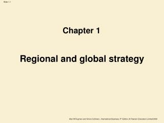 Regional and global strategy