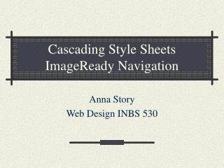 Cascading Style Sheets ImageReady Navigation