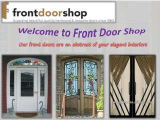 Premium quality oak front doors in now available in customiz