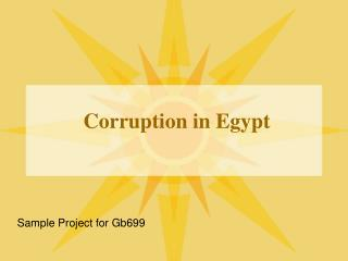 Corruption in Egypt