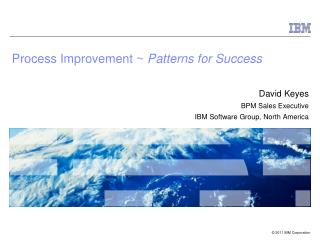 Process Improvement ~  Patterns for Success