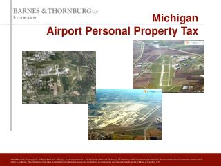 Michigan  Airport Personal Property Tax