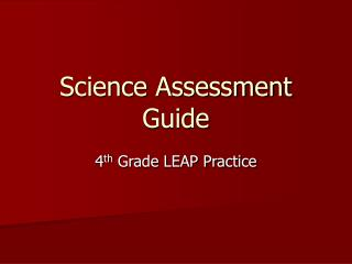 Science Assessment Guide
