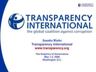 Juanita R i año Transparency International transparency