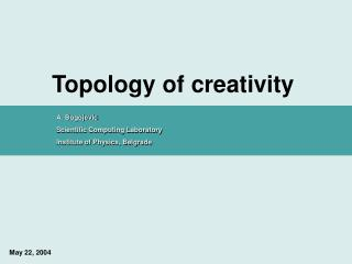 Topology of creativity