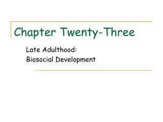 Chapter Twenty-Three