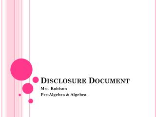 Disclosure Document