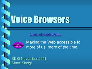Voice Browsers
