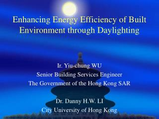 Enhancing Energy Efficiency of Built Environment through Daylighting