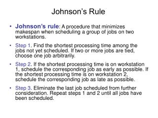 Johnson's Rule