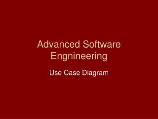 Advanced Software Engnineering