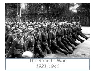 The Road to War 1931-1941