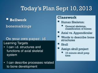 Today's Plan Sept 10, 2013