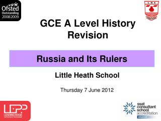 GCE A Level History  Revision