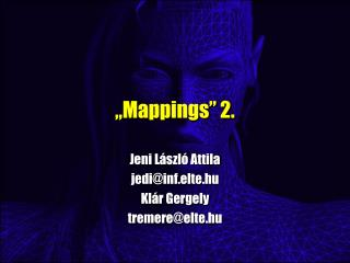 """ Mappings "" 2."