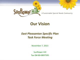 Our Vision East Pleasanton Specific Plan Task Force Meeting