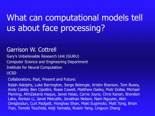 What can computational models tell us about face processing?