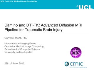 Camino and DTI-TK: Advanced Diffusion MRI Pipeline for Traumatic Brain Injury