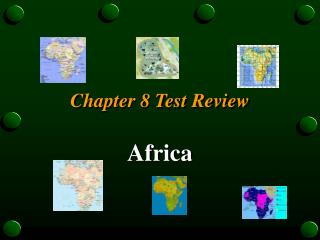 Chapter 8 Test Review