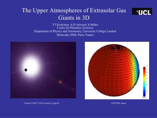 The Upper Atmospheres of Extrasolar Gas Giants in 3D