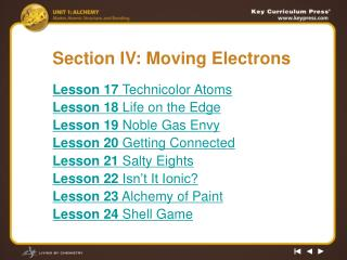 Section IV: Moving Electrons
