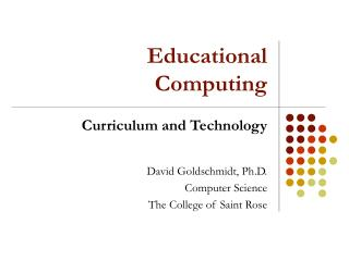 Educational Computing