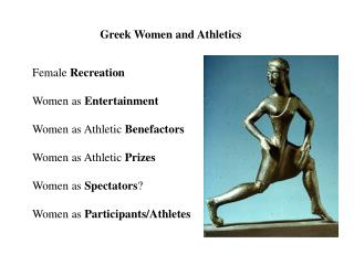 Greek Women and Athletics