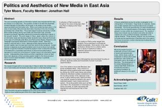 Politics and Aesthetics of New Media in East Asia