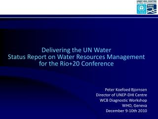 Delivering the UN Water  Status Report on Water Resources Management  for the Rio+20 Conference