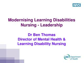 Government, national policy  and learning disabilities