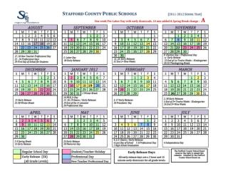 2011- 2012 Calendar Highlights