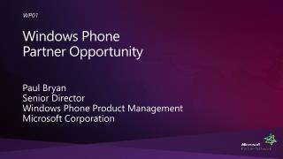 Windows Phone Partner Opportunity