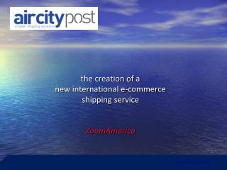 t he creation of  a new  international  e- commerce shipping  service ZoomAmerica