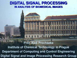 DIGITAL SIGNAL PROCESSING IN ANALYSIS OF BIOMEDICAL IMAGES