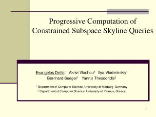 Progressive Computation of  Constrained Subspace Skyline Queries